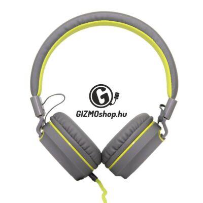 Cellect S102 vezetékes headset, szürke