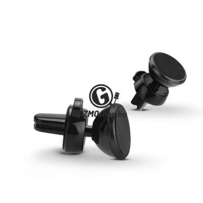 Univerzális szellőzőrácsba illeszthető mágneses PDA/GSM autós tartó – Fly C1502 – fekete