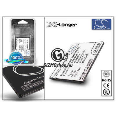 Samsung i9150 Galaxy Mega 5.8 akkumulátor – Li-Ion 2600 mAh – (EB-BA650AC utángyártott) – X-LONGER