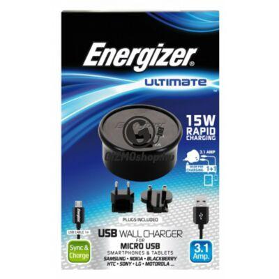 Energizer micro usb hálózati töltő,2usb,3.1A