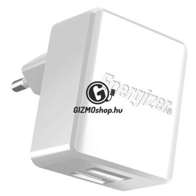EnergizerType-C hálózati töltő,2xUSB, 2.4A,Fehér