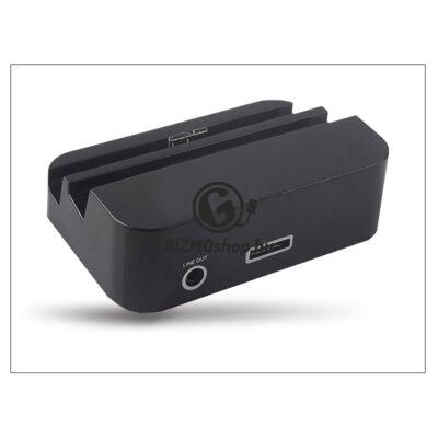 Samsung N9000 Galaxy Note 3 asztali töltő + audió be/kimenet – fekete