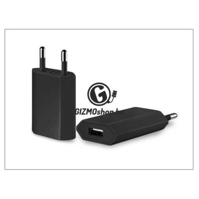 Univerzális USB hálózati töltő adapter – 5V/1A – fekete
