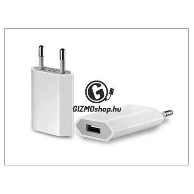Univerzális USB hálózati töltő adapter – 5V/1A – fehér