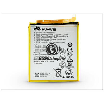 Huawei P9 Plus gyári akkumulátor – Li-polymer 3400 mAh – HB376883ECW (ECO csomagolás)