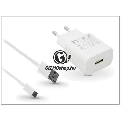 Huawei gyári USB hálózati töltő adapter + Type-C adatkábel – 5V/2A és 9V/2A – Quick Charge HW-059200EHQ + AP51 white (ECO csomagolás)