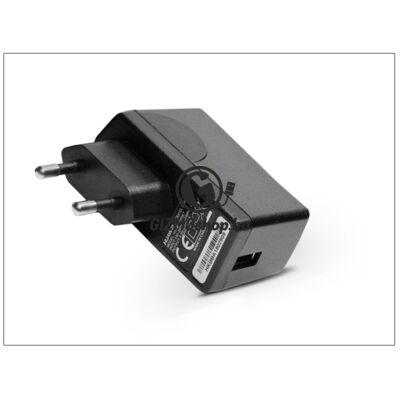 Huawei gyári USB hálózati töltő adapter – 5V/1A – HW-050100E1W black (ECO csomagolás)