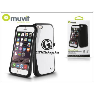 Apple iPhone 6/6S ütésálló hátlap – Muvit ShockProof – black/white