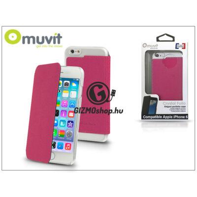 Apple iPhone 6/6S flipes tok – Muvit Crystal Folio – pink