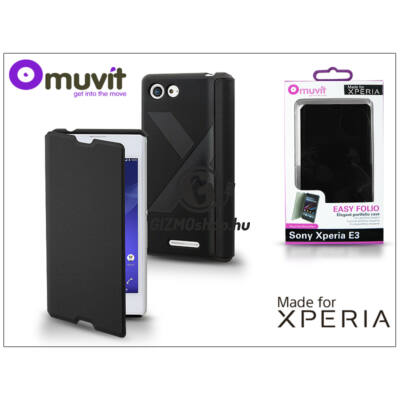 Sony Xperia E3 (D2203) flipes tok – Made for Xperia Muvit Easy Folio – black
