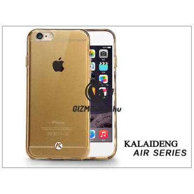 Apple iPhone 6 Plus szilikon hátlap üveg képernyővédó fóliával – Kalaideng Air Series – gold