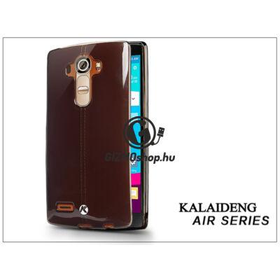 LG G4 H815 szilikon hátlap üveg képernyővédó fóliával – Kalaideng Air Series – black