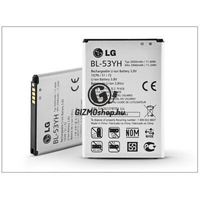 LG D855 G3 gyári akkumulátor – Li-ion 3000 mAh – BL-53YH (csomagolás nélküli)