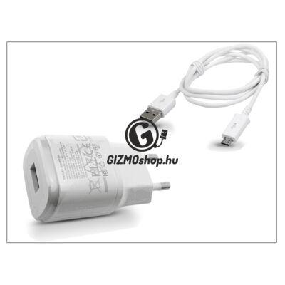 LG gyári USB hálózati töltő adapter + micro USB adatkábel – 5V/1,8A – MCS-04ER + EAD62329305 white (csomagolás nélküli)