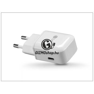 LG USB Type-C gyári hálózati töltő adapter – 5V/3A – MCS-N04ER Type-C 3.0 – white