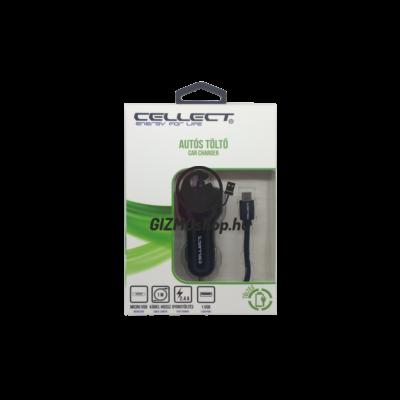 Autós töltő micro USB kábellel és adapter funkcióval