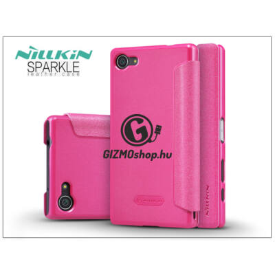 Sony Xperia Z5 Compact (E5803) oldalra nyíló flipes tok – Nillkin Sparkle – pink