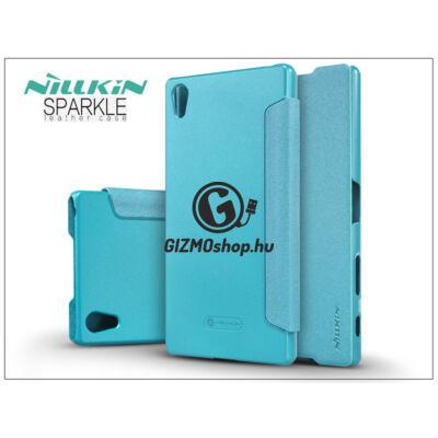 Sony Xperia Z5 Premium (E6853) oldalra nyíló flipes tok – Nillkin Sparkle – kék
