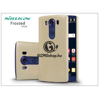LG V10 H960A hátlap képernyővédő fóliával – Nillkin Frosted Shield – gold