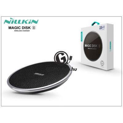 Nillkin Qi univerzális vezeték nélküli töltő állomás – 5V/2A – Nillkin Magic Disk III Wireless Fast Charger – fekete – Qi szabványos