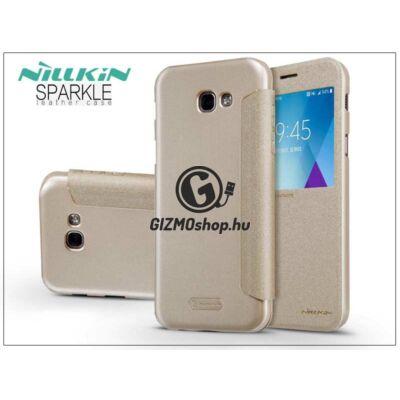 Samsung A520F Galaxy A5 (2017) oldalra nyíló flipes tok – Nillkin Sparkle – gold