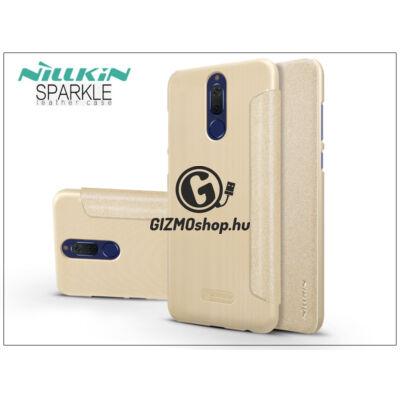 Huawei Mate 10 Lite oldalra nyíló flipes tok – Nillkin Sparkle – gold
