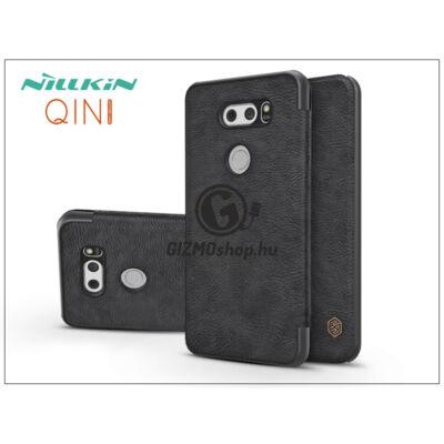 LG V30 H930 oldalra nyíló flipes tok – Nillkin Qin – fekete