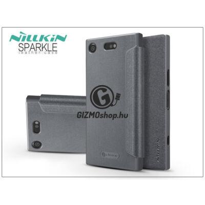 Sony Xperia XZ1 Compact (G8441) oldalra nyíló flipes tok – Nillkin Sparkle – fekete