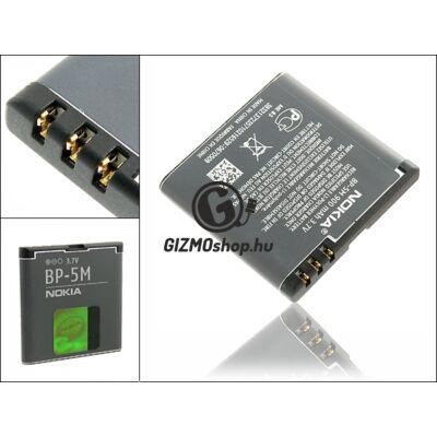 Nokia 5700/7390/8600lun/6110nav gyári akkumulátor – Li-Polymer 900 mAh – BP-5M (csomagolás nélküli)