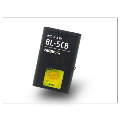 Nokia 100/1616/1800/Asha 311 gyári akkumulátor – Li-Ion 800 mAh – BL-5CB (csomagolás nélküli)