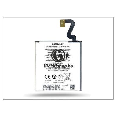 Nokia Lumia 920 gyári akkumulátor – Li-Polymer 2000 mAh – BP-4GW (csomagolás nélküli)