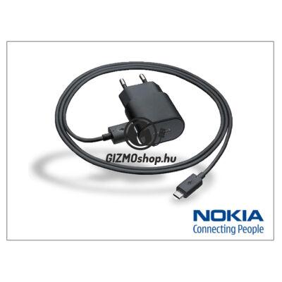 Nokia 6500 classic/7900 prism/8600 Luna gyári micro USB hálózati töltő 120 cm-es vezetékkel – 5V/1,3A – AC-50E – black (csomagolás nélküli)