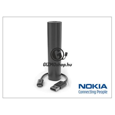 Nokia hordozható, asztali gyári akkumulátor töltő USB – micro USB csatlakozóval – DC-16 PowerBank – 2200 mAh – black (csomagolás nélküli)