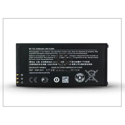 Microsoft Lumia 640 gyári akkumulátor – Li-Ion 2500 mAh – BV-T5C (csomagolás nélküli)