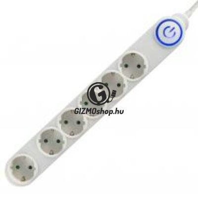 Talpkapcsolós elosztó világító kapcsolóval
