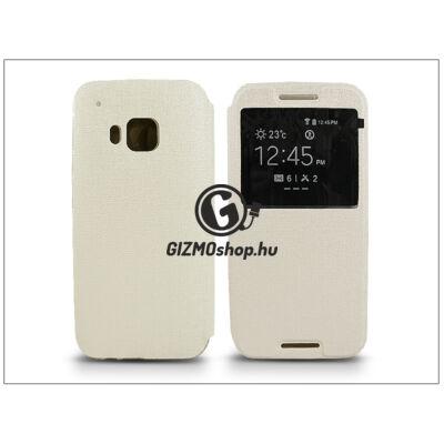 HTC One M9 S-View Flexi oldalra nyíló flipes tok – fehér
