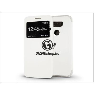LG G5 H850 S-View Flexi oldalra nyíló flipes tok – fehér