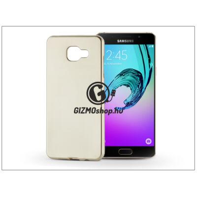 Samsung A510F Galaxy A5 (2016) szilikon hátlap – Jelly Flash Mat – gold