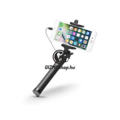 Blun Selfie Holder szelfi bot exponáló gombbal, Lightning csatlakozóval – fekete