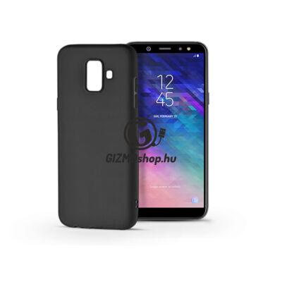 Samsung A600F Galaxy A6 (2018) szilikon hátlap – Soft – fekete