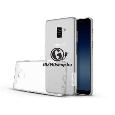 Samsung A730F Galaxy A8 Plus (2018) szilikon hátlap – Soft Clear – transparent