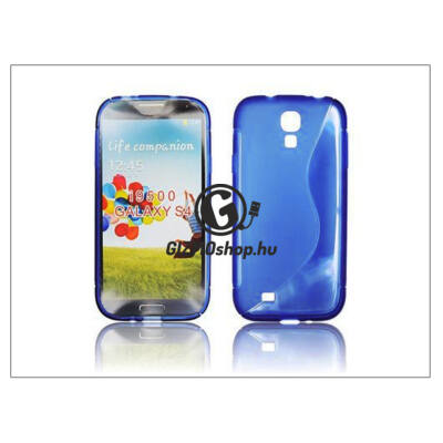 Samsung i9500 Galaxy S4 szilikon hátlap – kék – S-Line