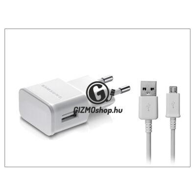 Samsung gyári USB hálózati töltő adapter + micro USB adatkábel – 5V/1A – ETA0U81EWE +ECB-DU4AWE/EWE white (csomagolás nélküli)