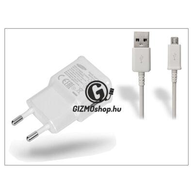 Samsung gyári USB hálózati töltő adapter + micro USB adatkábel – 5V/2A – EP-TA10EWE + ECB-DU4AWE/EWE white (ECO csomagolás)