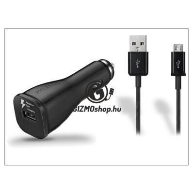 Samsung gyári USB szivargyújtós töltő adapter + micro USB adatkábel – 5V/2A – EP-LN915U+ECB-DU4ABE black – Adaptive Fast Charging (csomagolás nélküli)