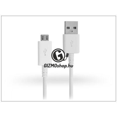 Samsung gyári micro USB adat- és töltőkábel 80 cm-es vezetékkel – ECB-DU68WE white (csomagolás nélküli)