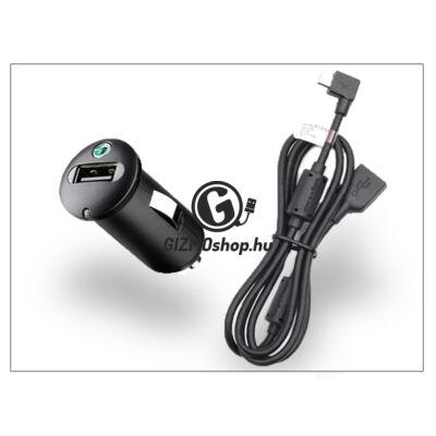 Sony Ericsson gyári USB szivargyújtós töltő adapter + micro USB adatkábel – 5V/1,2A – AN400+EC600L (csomagolás nélküli)