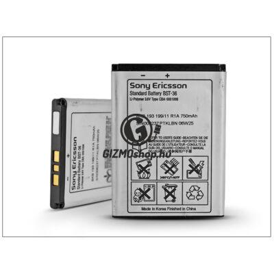 Sony Ericsson K310/K510/K320/T250/W200 gyári akkumulátor – Li-Polymer 750 mAh – BST-36 (bontott/bevizsgált)
