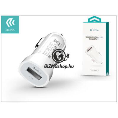 Devia Smart USB Car Charger szivargyújtós töltő adapter – 5V/2,1A – white
