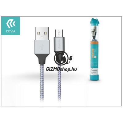 USB – micro USB adat- és töltőkábel 1 m-es vezetékkel – Devia Tube for Android USB 2.4A